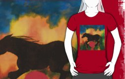 W HORSE WITH RED BALL TSHIRT fig,red,womens,ffffff.u4