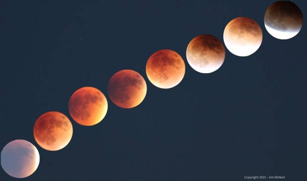 time lapse photo Aries Lunar eclipse Sept 27 2015