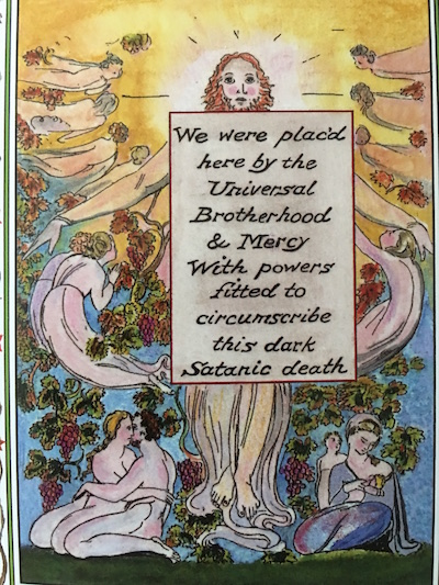 The 9 of Poetry (Powers) card from the William Blake Tarot