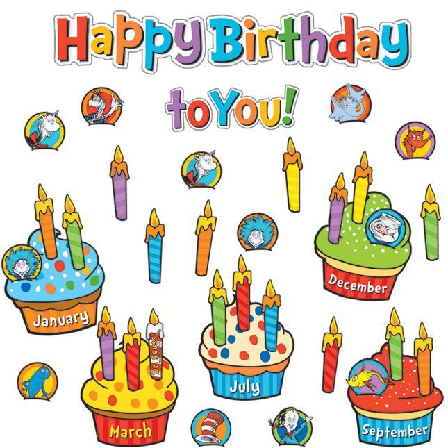 Dr Seuss Happy Birthday To You Mini Bulletin Board Set