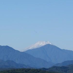 富士山、冠雪