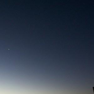 金星と微かに見える土星とスピカ