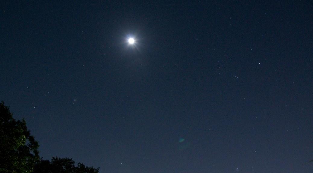 月、オリオン座、木星