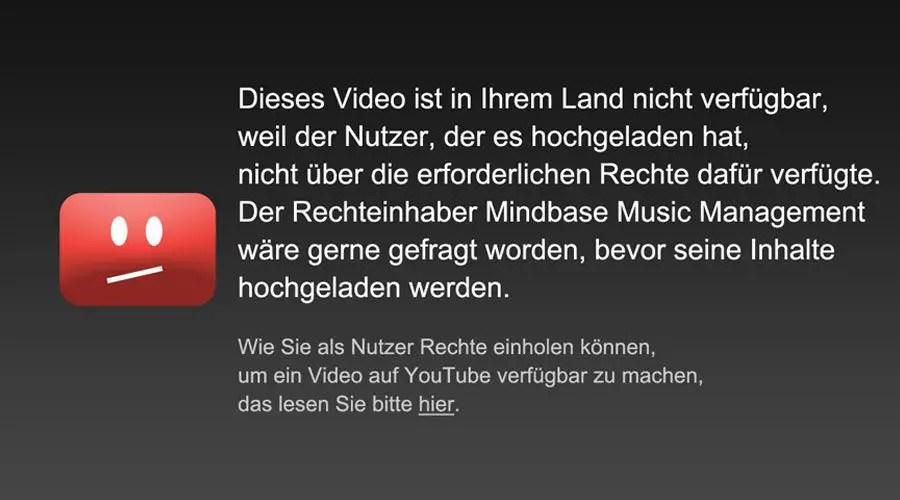 يوتيوب فيديو محضور في المانيا