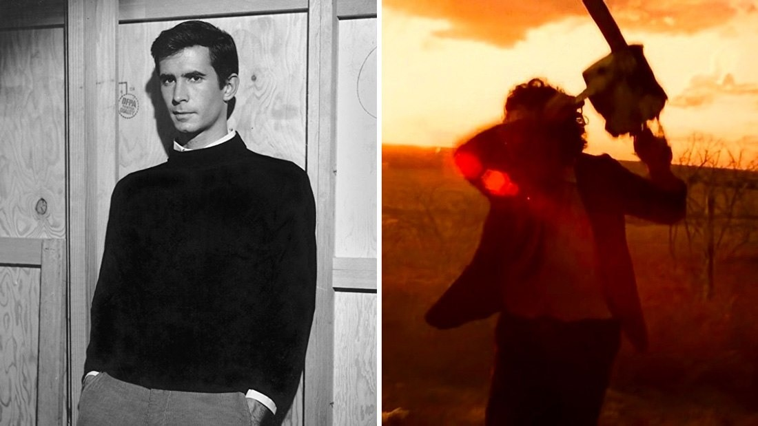 The Texas Chainsaw Massacre in 1974 and Psycho in 1960