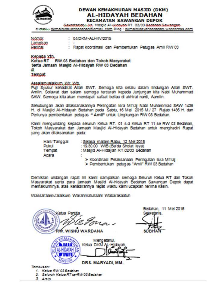 Rapat Rw Dan Dkm Bentuk Amil Rw 03 Dkm Al Hidayah Bedahan Sawangan