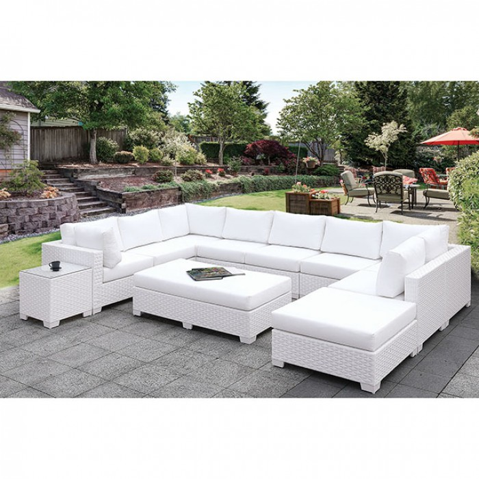 somani ii patio u sectional sofa set with large ottoman