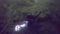 Surveying herring spawn in Spiller Channel. Photo: Tristan Blaine.