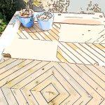 Avant Apres Terrasse Chevron En Bois Inspiration Boheme Dkomag