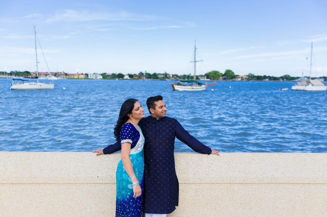 St Augustine Indian Engagement Shoot Photographer