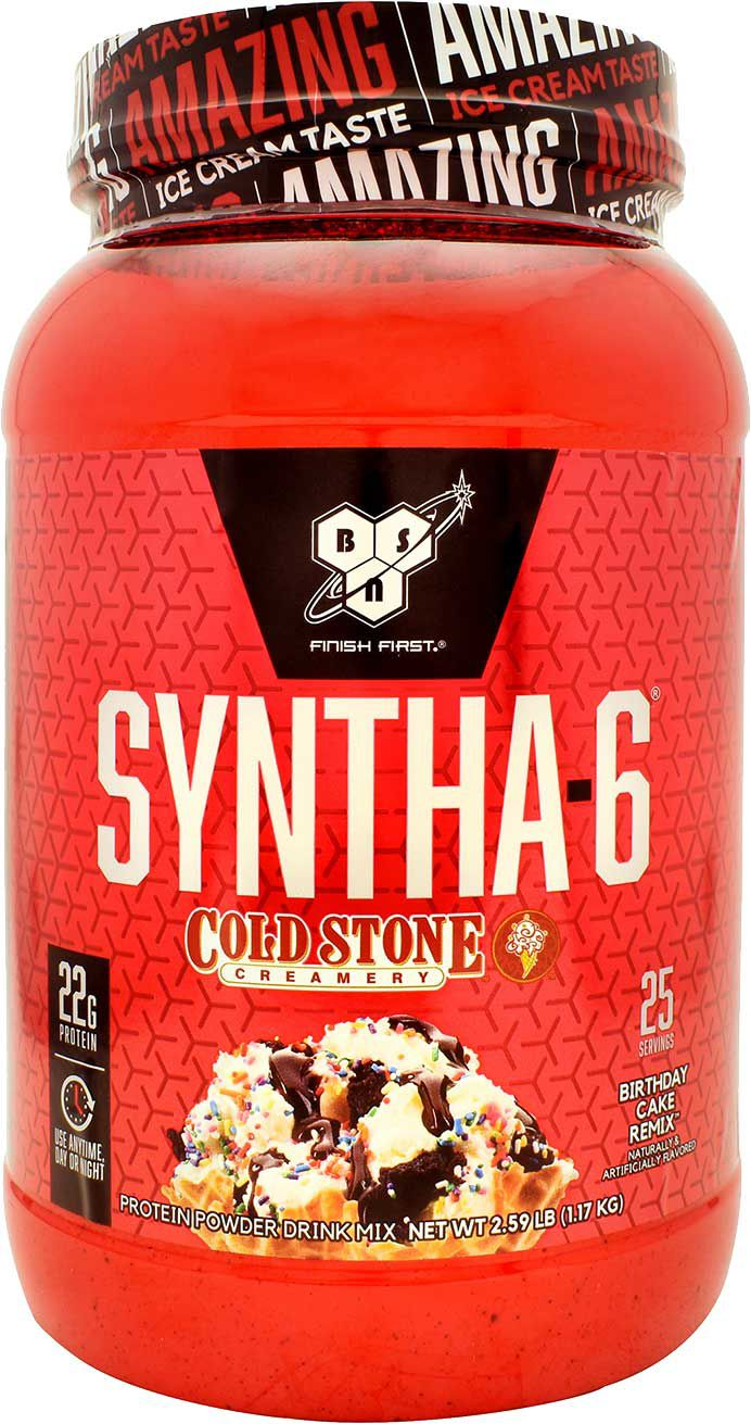 Syntha 6 Cold Stone Creamery Protein Powder Birthday Cake Remix 25 Servings Dick S Sporting Goods
