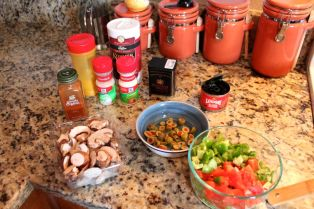 Prep the veggies and spices