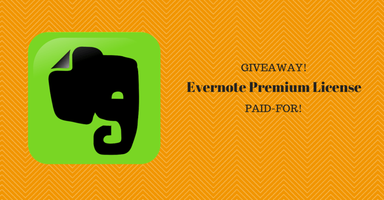 evernote premium license giveaway