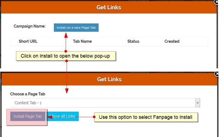 Fanpage Install