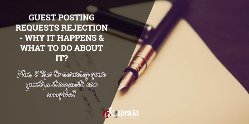 guest posting requests rejection