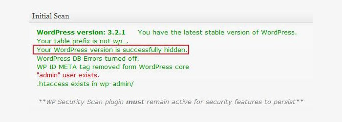 Keeping the WordPress Version Hidden