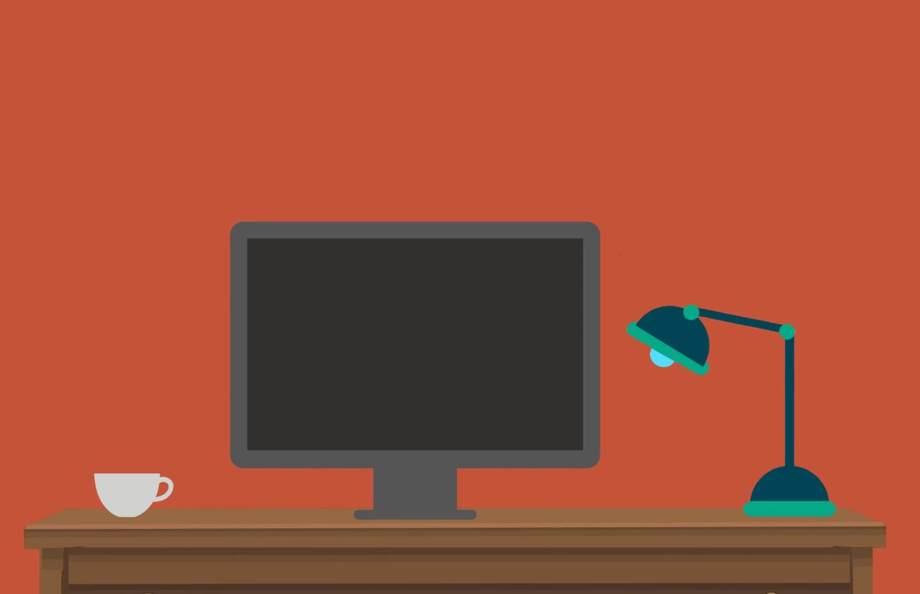 パソコンと勉強机