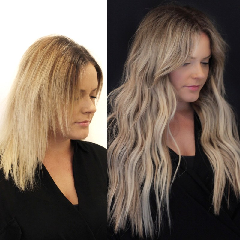 Natural Beaded Rows Before & After