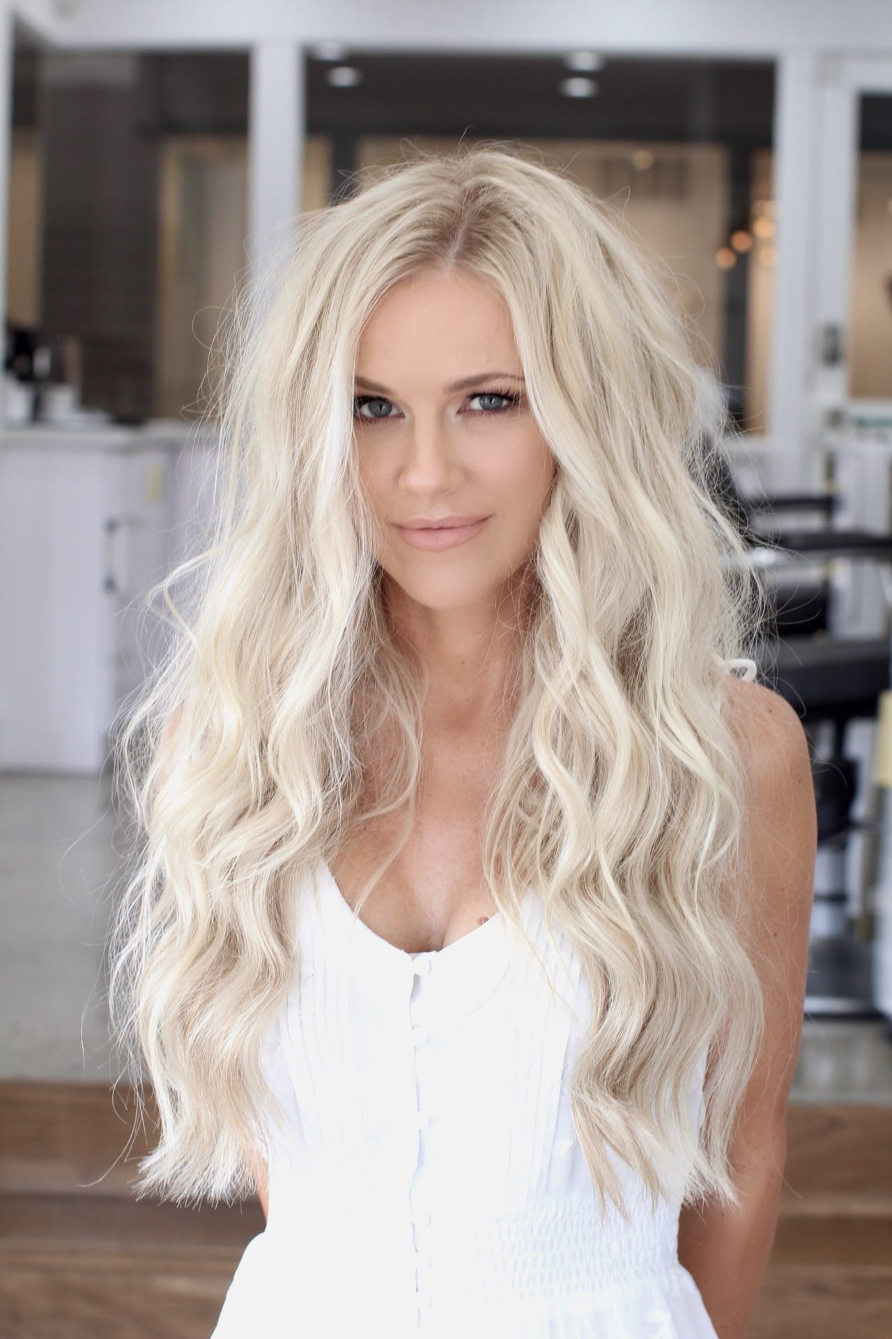 Blonde Hair Extensions - Natural Beaded Rows