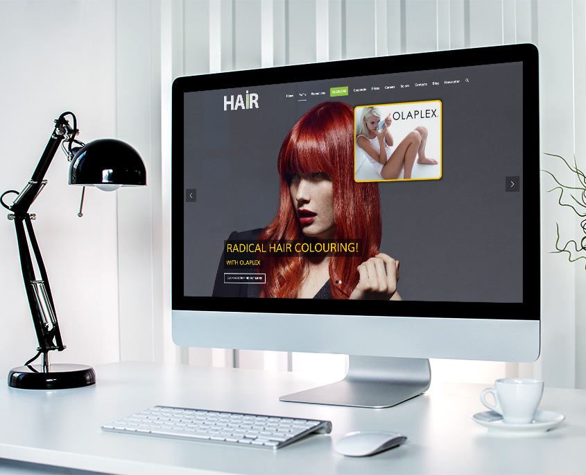 Hair Associates Graphic Design Website