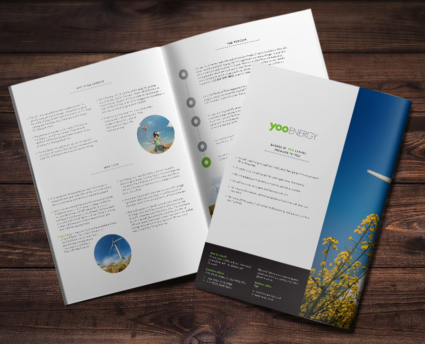 Yoo Energy Graphic Design Artwork Print PDF Brochure