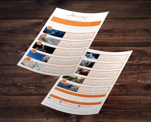Advantage Graphic Design Artwork Print PDF Flyer