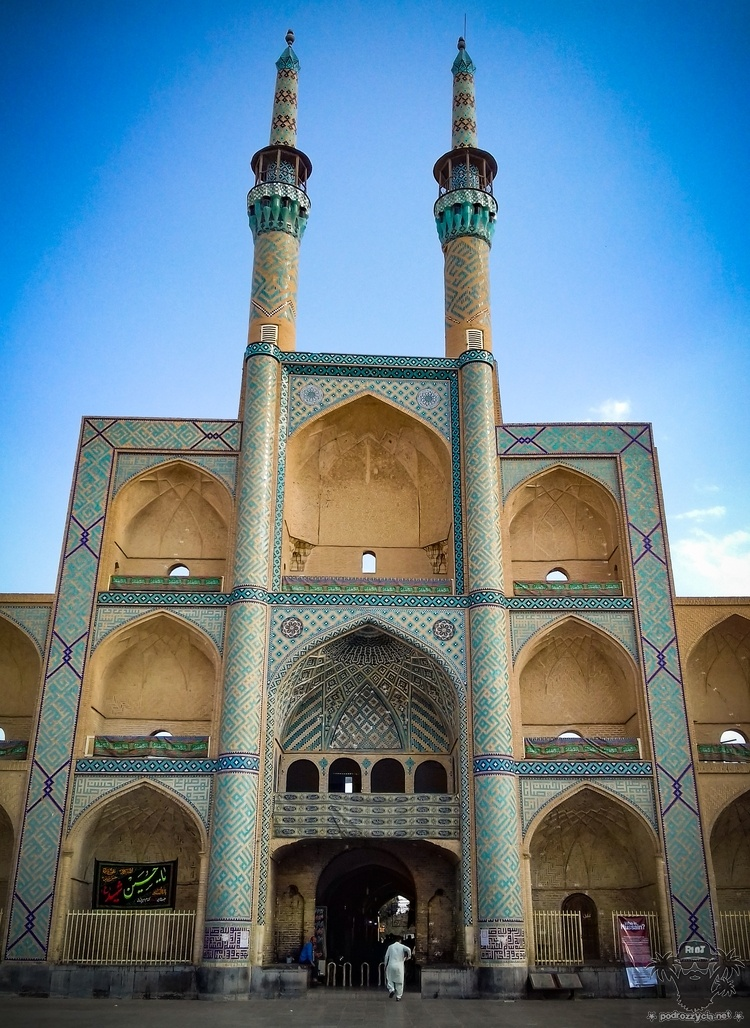 Podróż Życia, Iran, Jazd, meczet Amir Chakhmaq