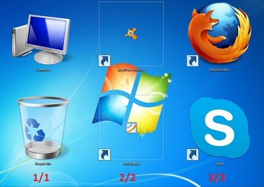 How to resize desktop icon?