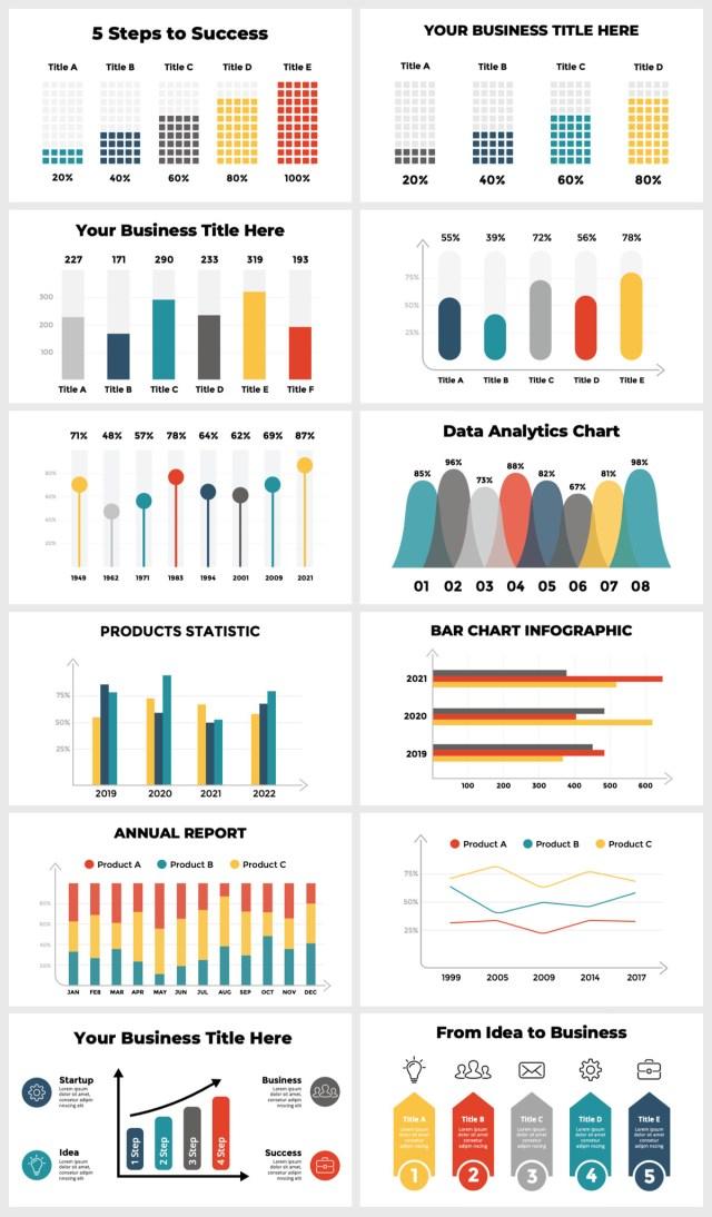 Huge Infographics Bundle! Lifetime Updates! PowerPoint, Photoshop, Illustrator. - 93