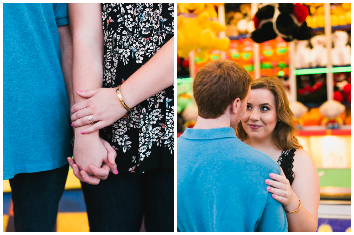 ways to position hands for the engagement ring - Carnival Engagement - Courtney and Alan