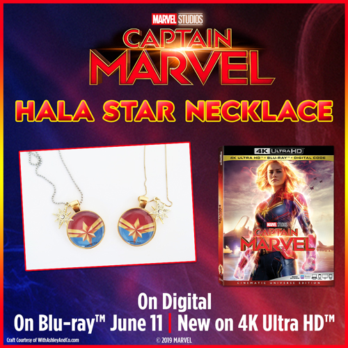 Hala Star Necklace Captain Marvel Craft