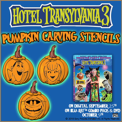 hotel transylvania pumpkin carving stencils