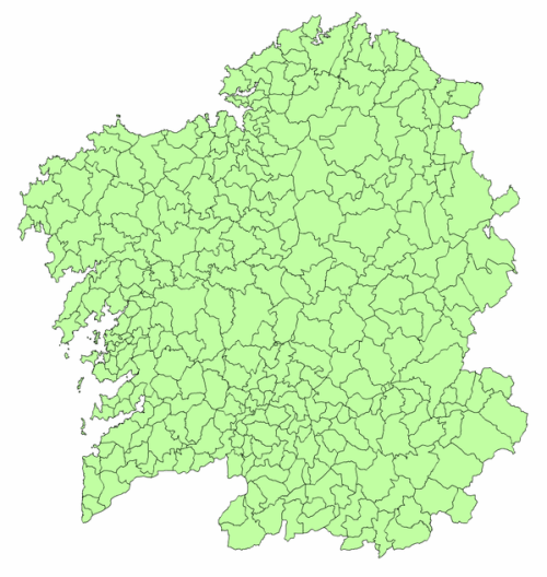 Mapa de todos los municipios de Galicia
