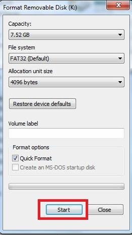 How to format pen drive using command prompt?