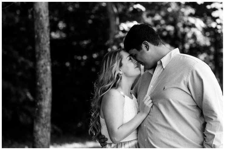 John and Casey Engagement BW