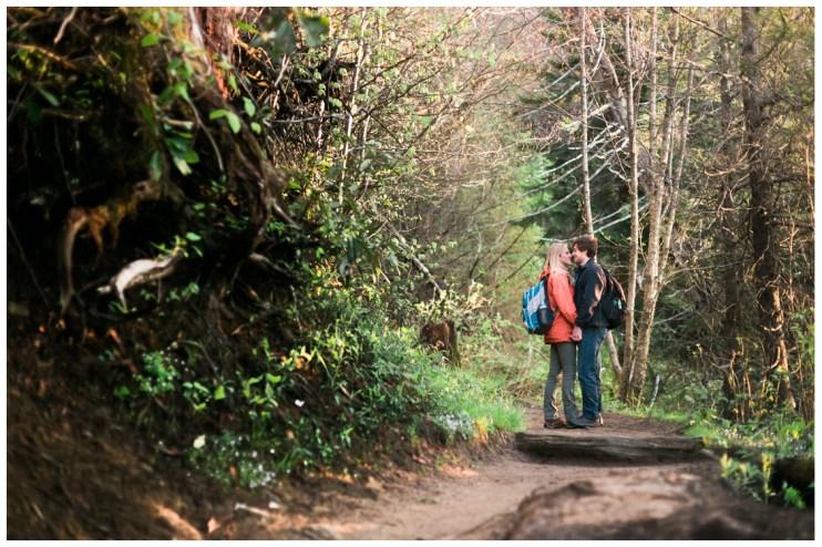 beautiful-light-on-Appalachian-trail-Charlies-Bunion-Engagement-Jill and Daniel