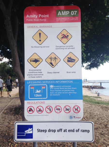 Señal tiburones