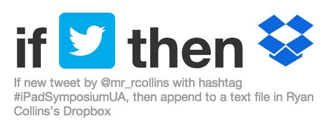 IFTTT Hashtag Recipe