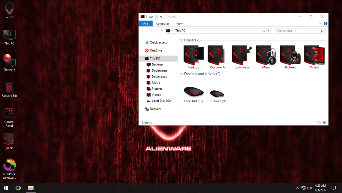 Alienware Advanced Red