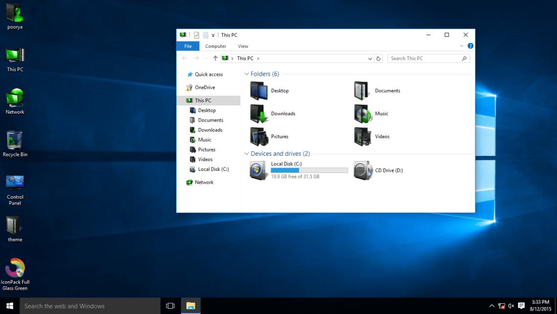 Full Glass Green IconPack
