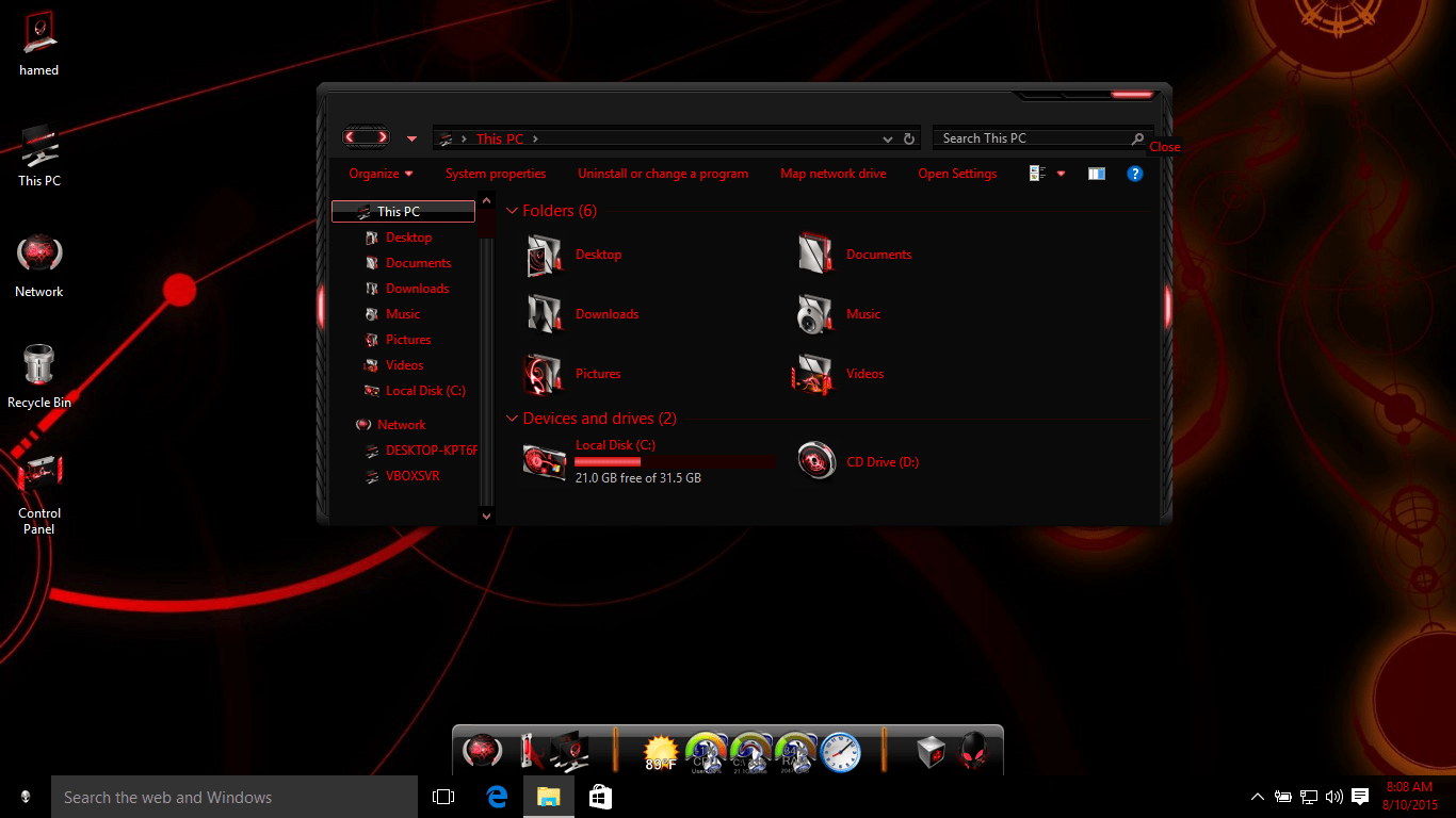 Hud red skinpack 2. 0 for win7/8/8. 1 released skinpack.