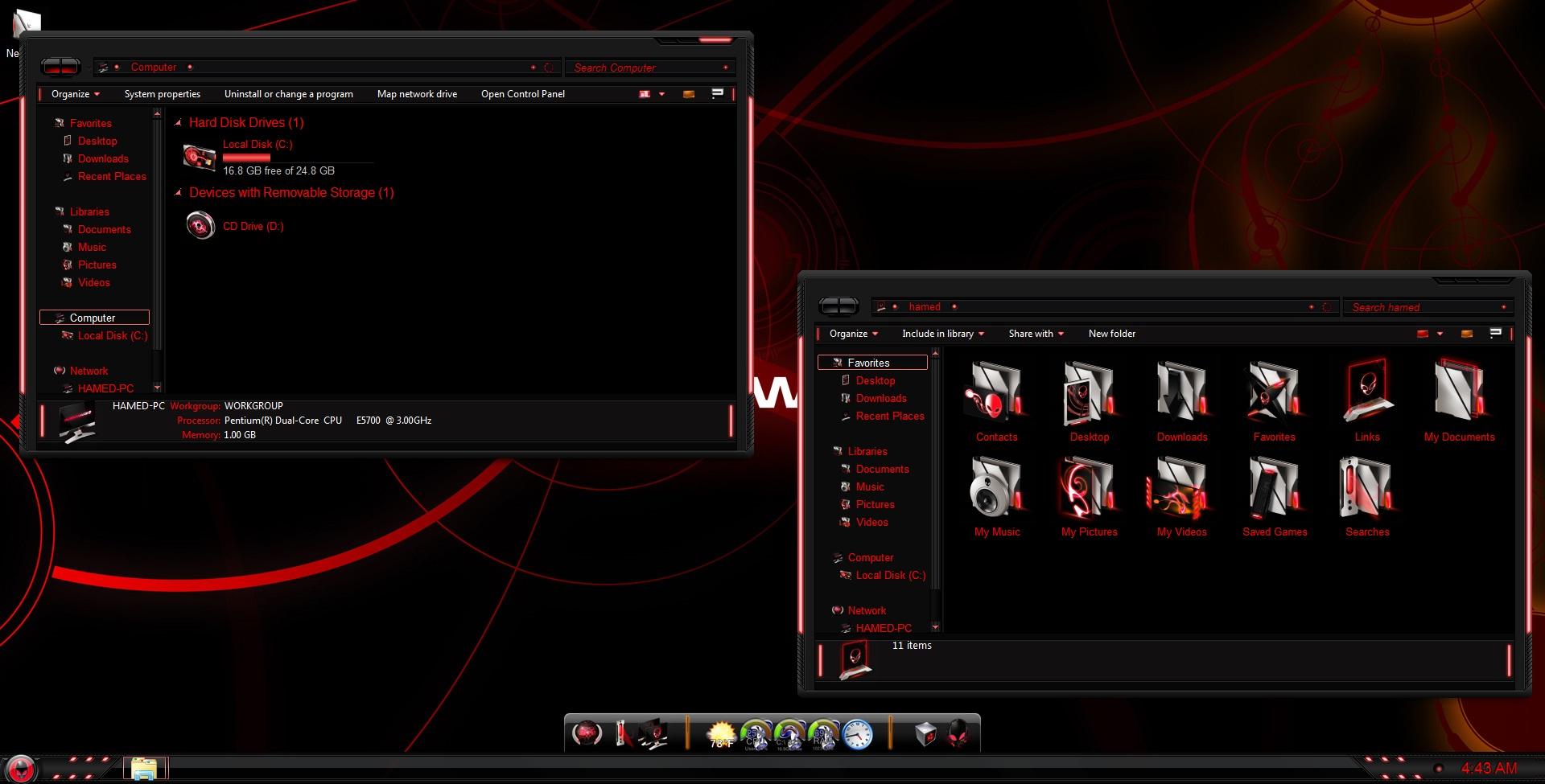 red alienware skin pack free download