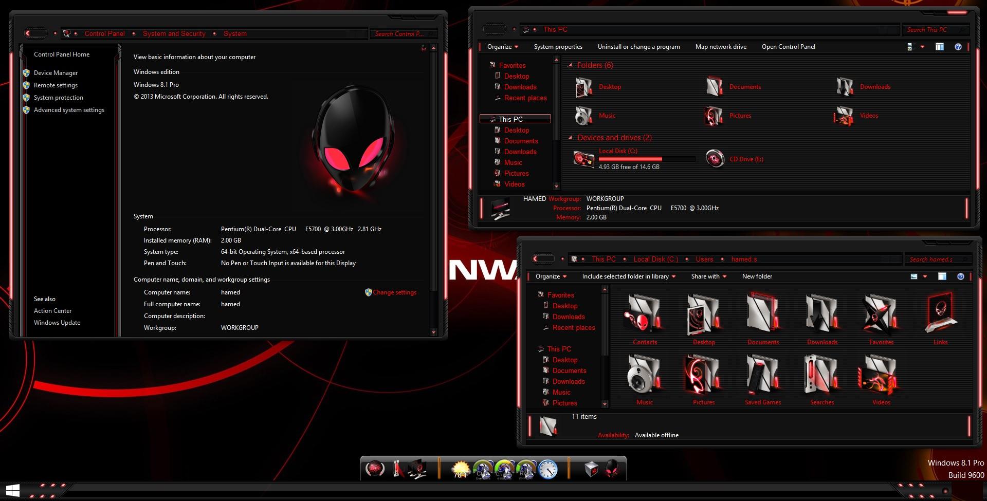 alienware skin for windows 10