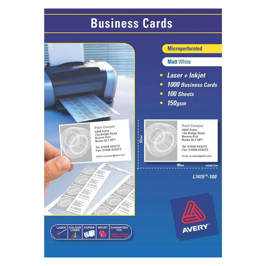 Avery Business Card Template 10