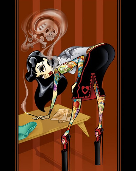 In its purest form, pin-up girl tattoos