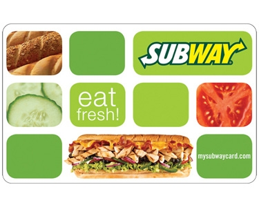 10 Subway Gift Card