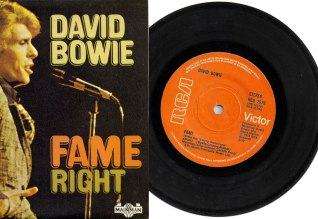 Fame by David Bowie - 1975 single front cover