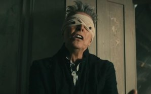 David Bowie Lazarus video button eyes bandage