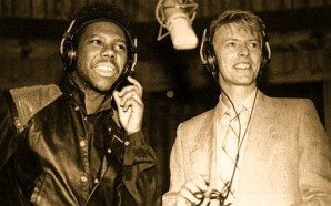 Nile Rodgers & David Bowie in the studio 1983