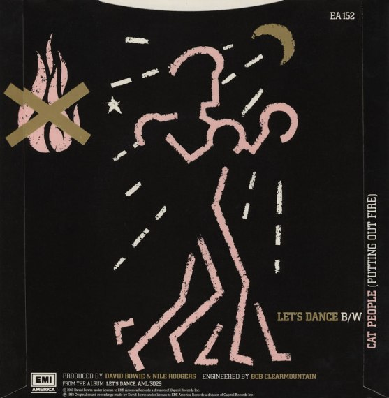 Let's Dance by David Bowie 1983 UK single back